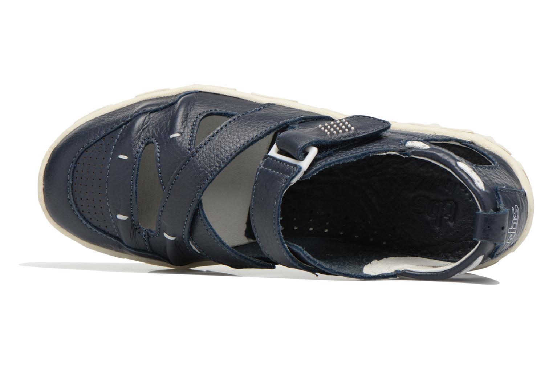 Sandalen TBS Juline blau ansicht von links