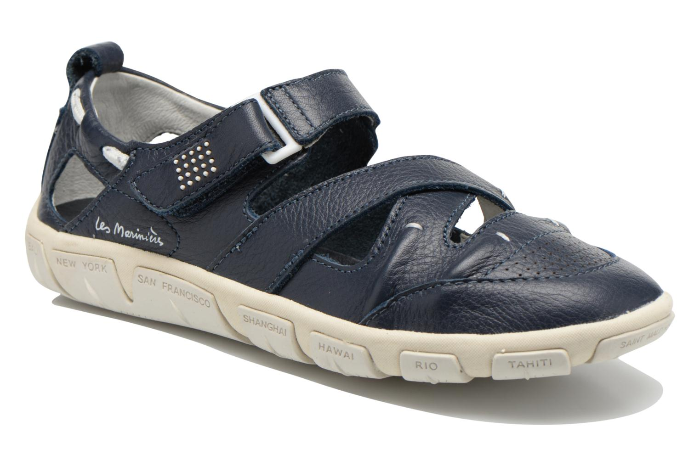 Sandals TBS Juline Blue detailed view/ Pair view