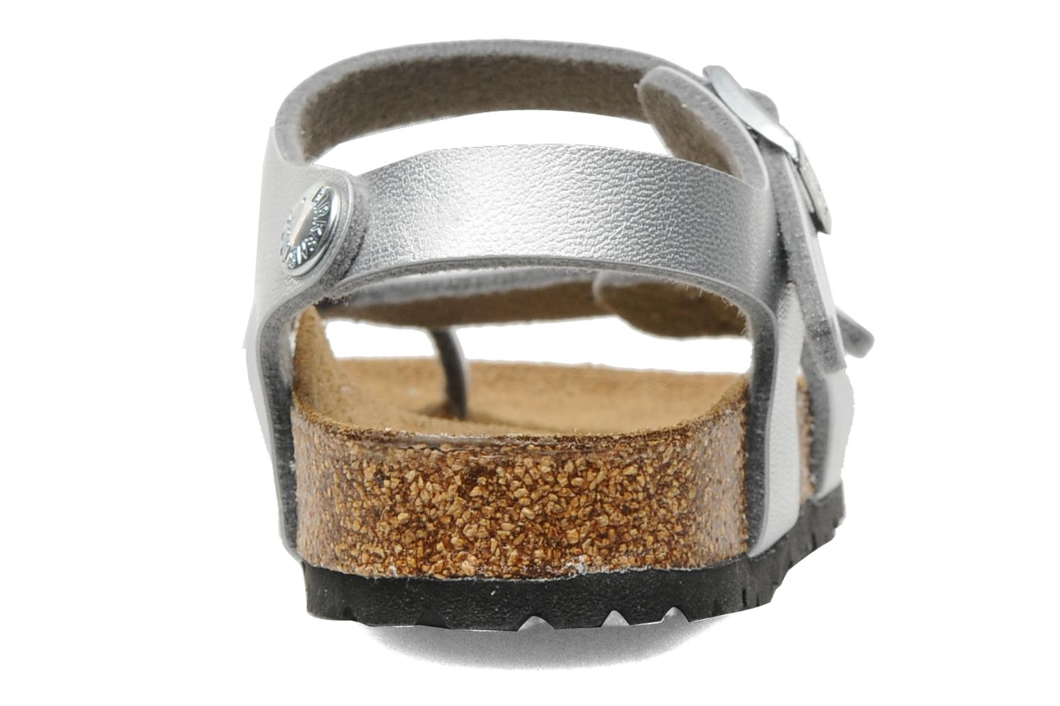 Sandals Birkenstock Taormina Birko-Flor Silver view from the right