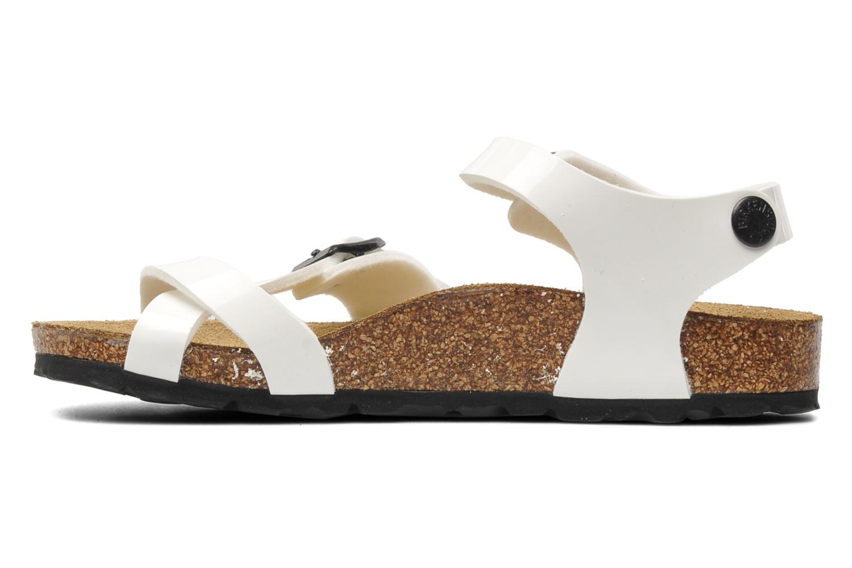 Sandalen Birkenstock Taormina Birko-Flor weiß ansicht von vorne