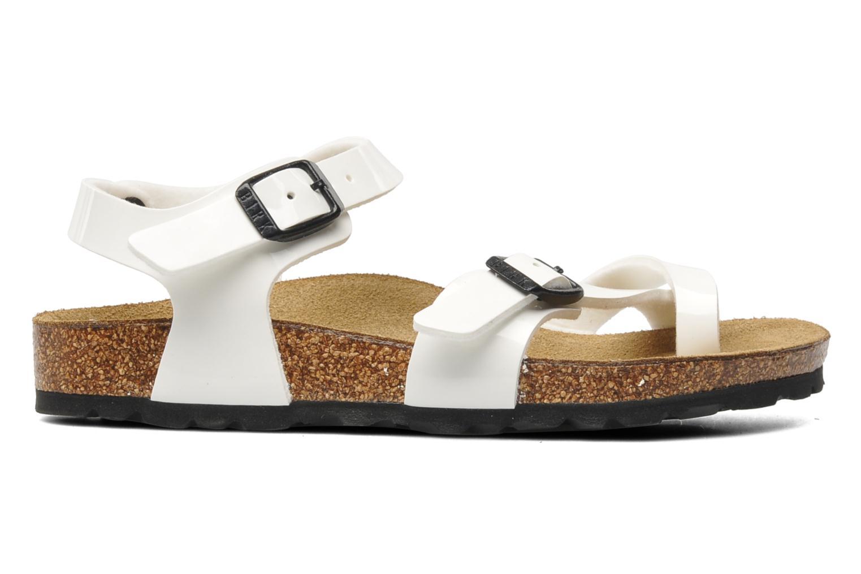 Sandalen Birkenstock Taormina Birko-Flor weiß ansicht von hinten