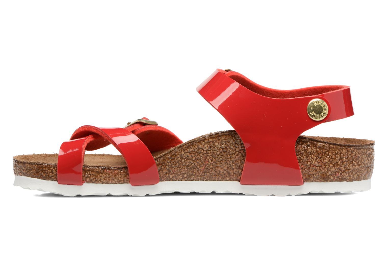 Sandalen Birkenstock Taormina Birko-Flor rot ansicht von vorne