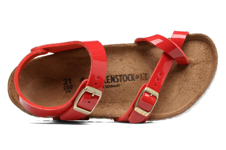 Sandalen Birkenstock Taormina Birko-Flor rot ansicht von links