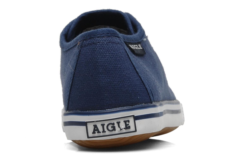 Sneaker Aigle Borizo Kid blau ansicht von rechts