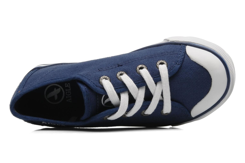 Sneaker Aigle Borizo Kid blau ansicht von links