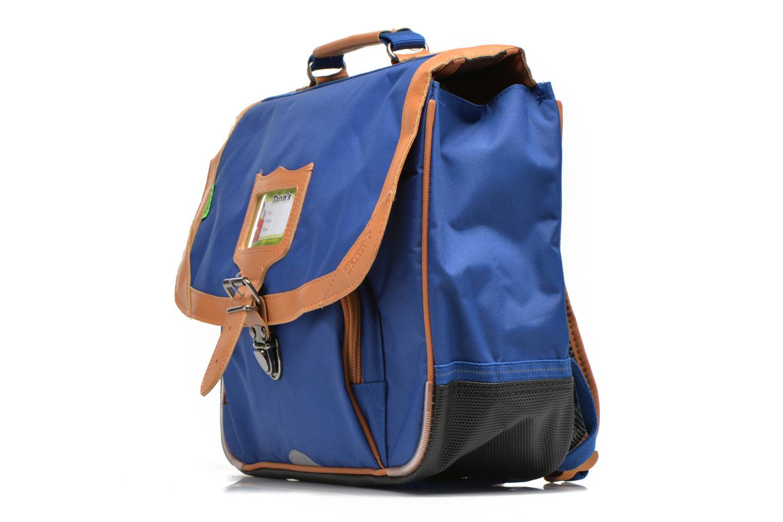Scolaire Tann's Cartable 35 cm CLASSIC Bleu vue portées chaussures