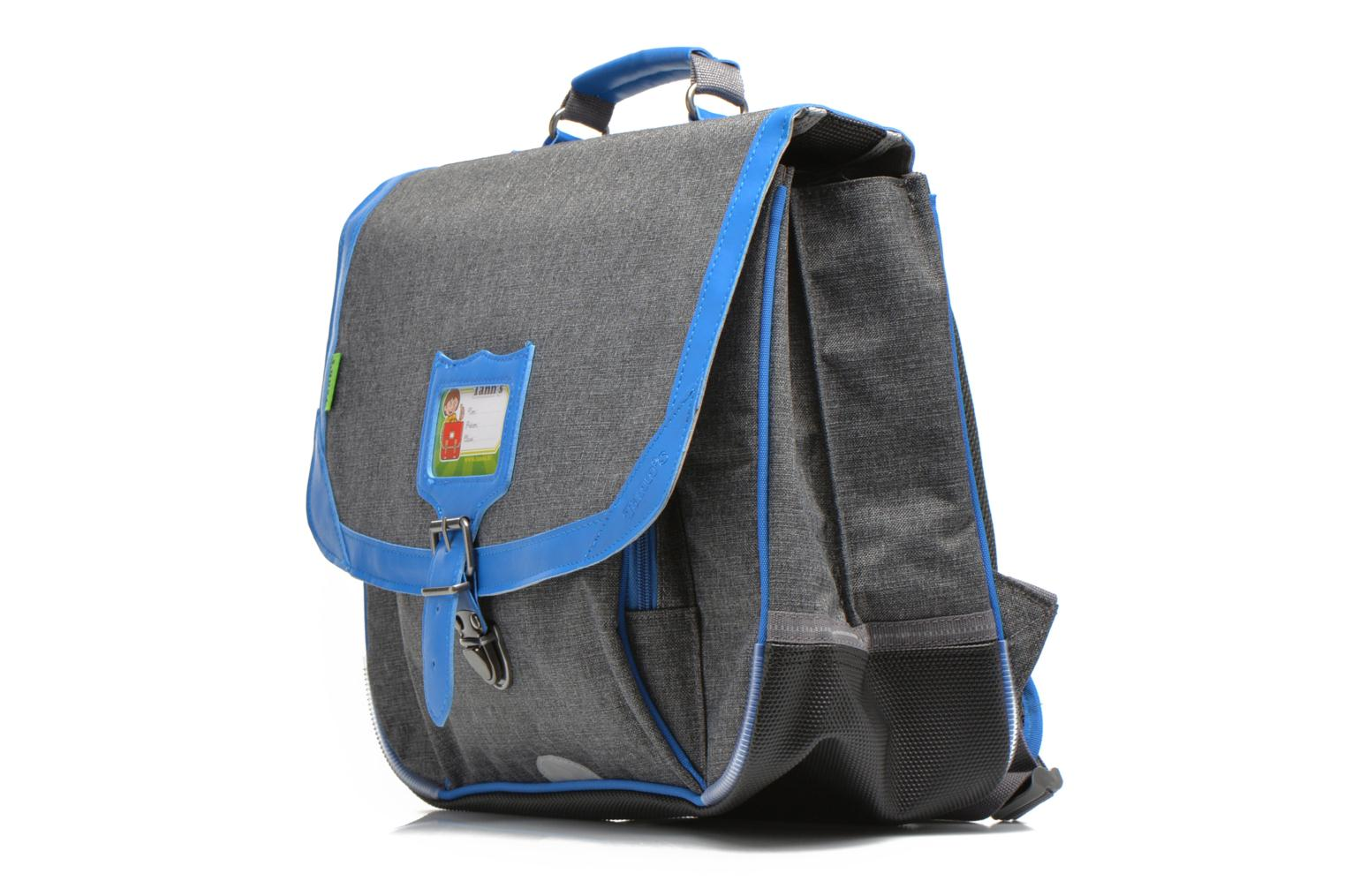 School bags Tann's Cartable 38 cm CLASSIC Grey model view