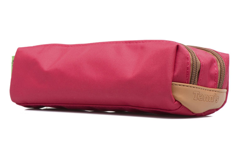 Scolaire Tann's Trousse double CLASSIC Rose vue portées chaussures