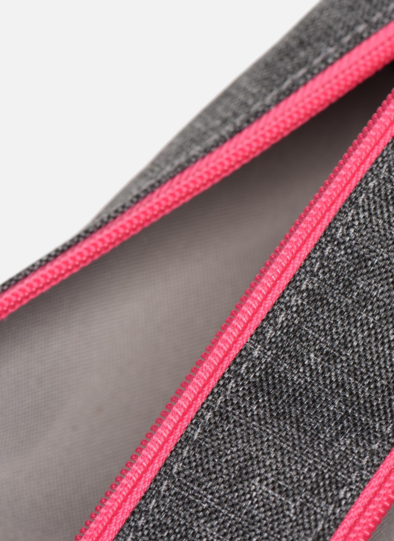 Skoletasker Tann's Trousse double CLASSIC Grå se bagfra
