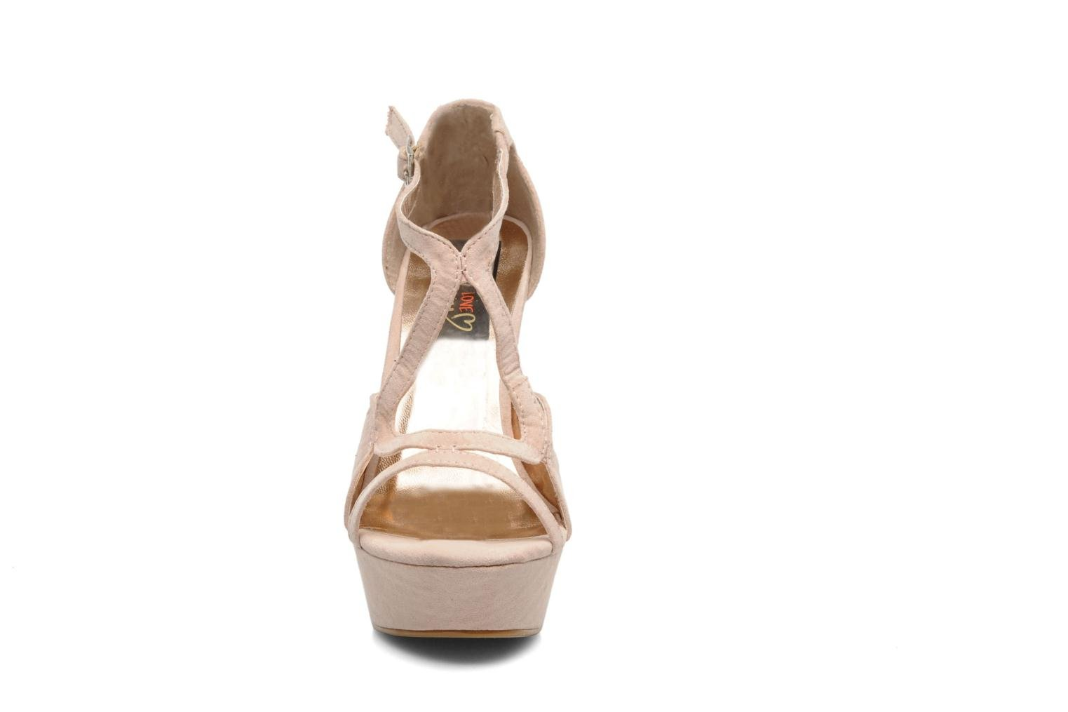 Sandals I Love Shoes Phogen Beige model view