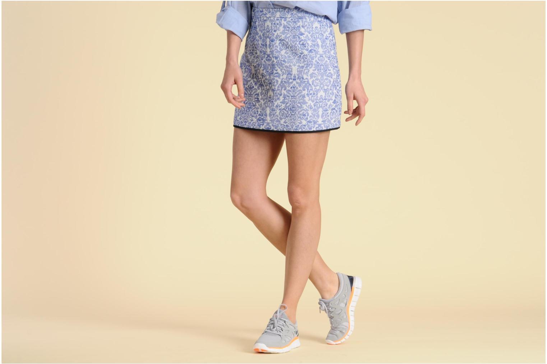 Chaussures de sport Nike Wmns Nike Free Run+ 2 Ext Bleu vue bas / vue portée sac