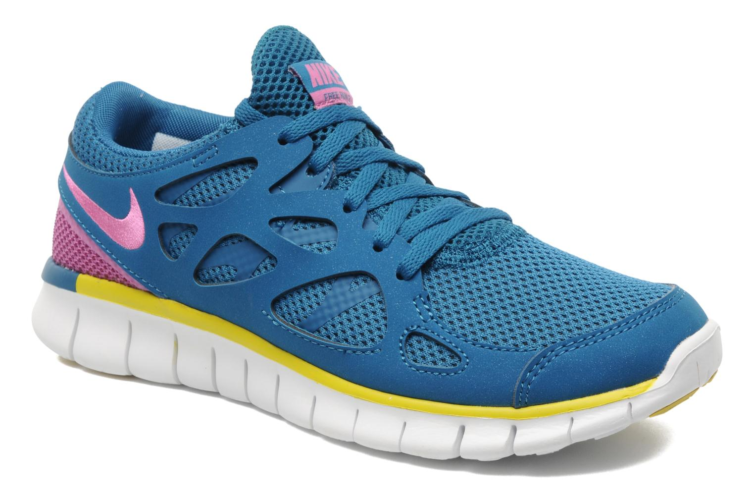 Wmns Nike Free Run+ 2 Ext Green Abyss/Rd Vlt-Brght Ctrn-Bl