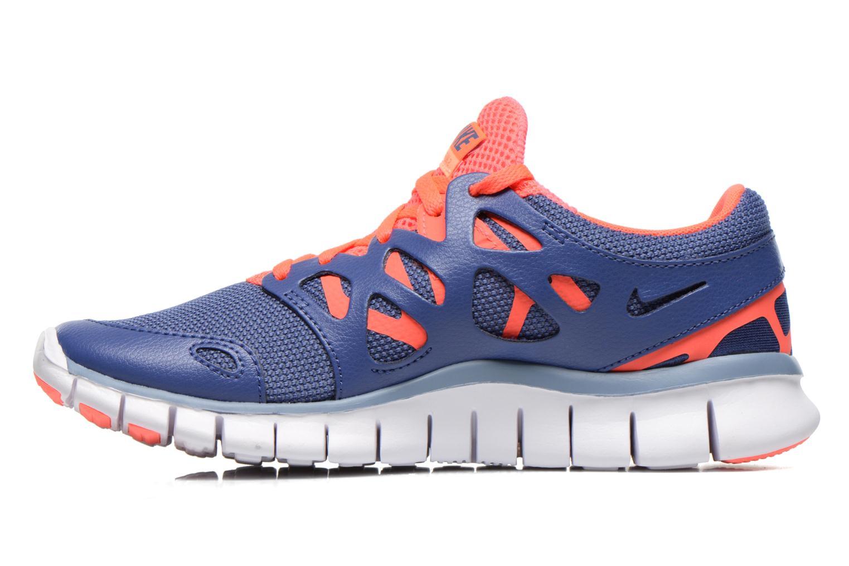 Chaussures de sport Nike Wmns Nike Free Run+ 2 Ext Bleu vue face