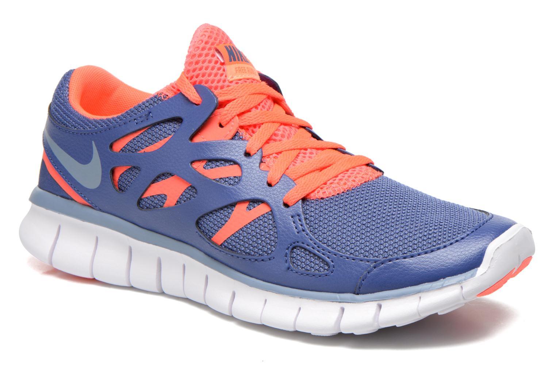 Chaussures de sport Nike Wmns Nike Free Run+ 2 Ext Bleu vue détail/paire