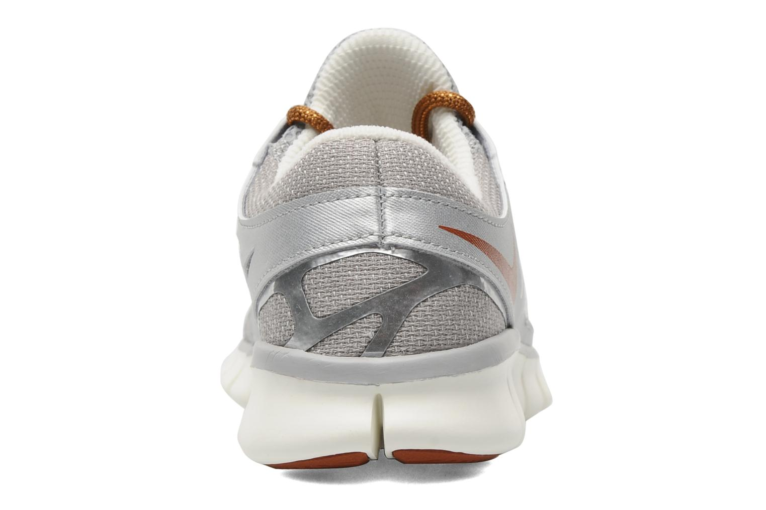 Sport shoes Nike Wmns Nike Free Run+ 2 Prm Ext Silver view from the right