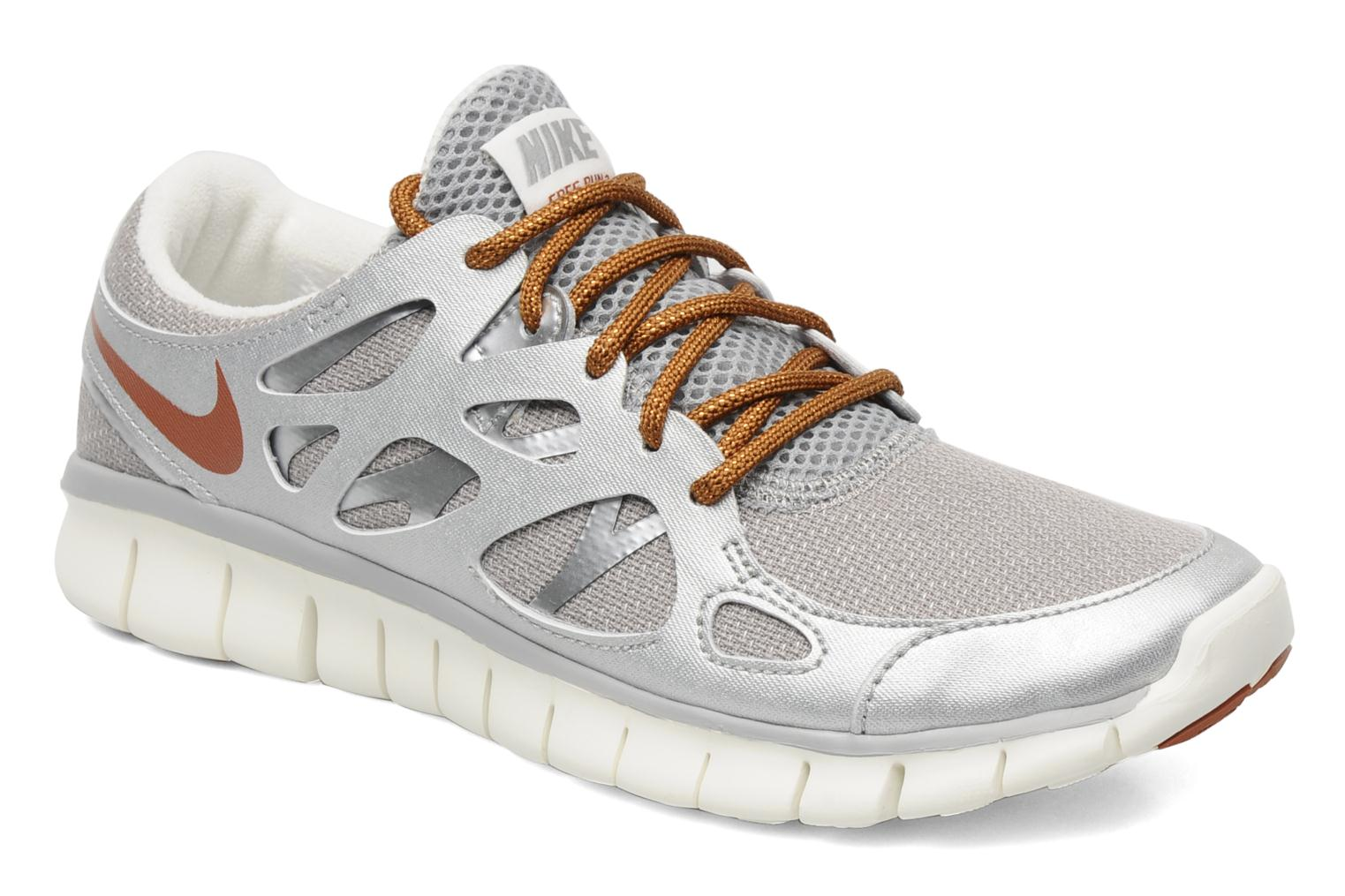 Wmns Nike Free Run+ 2 Prm Ext Mtt Silver/Ms Orange-Metallic Lstr-Sl
