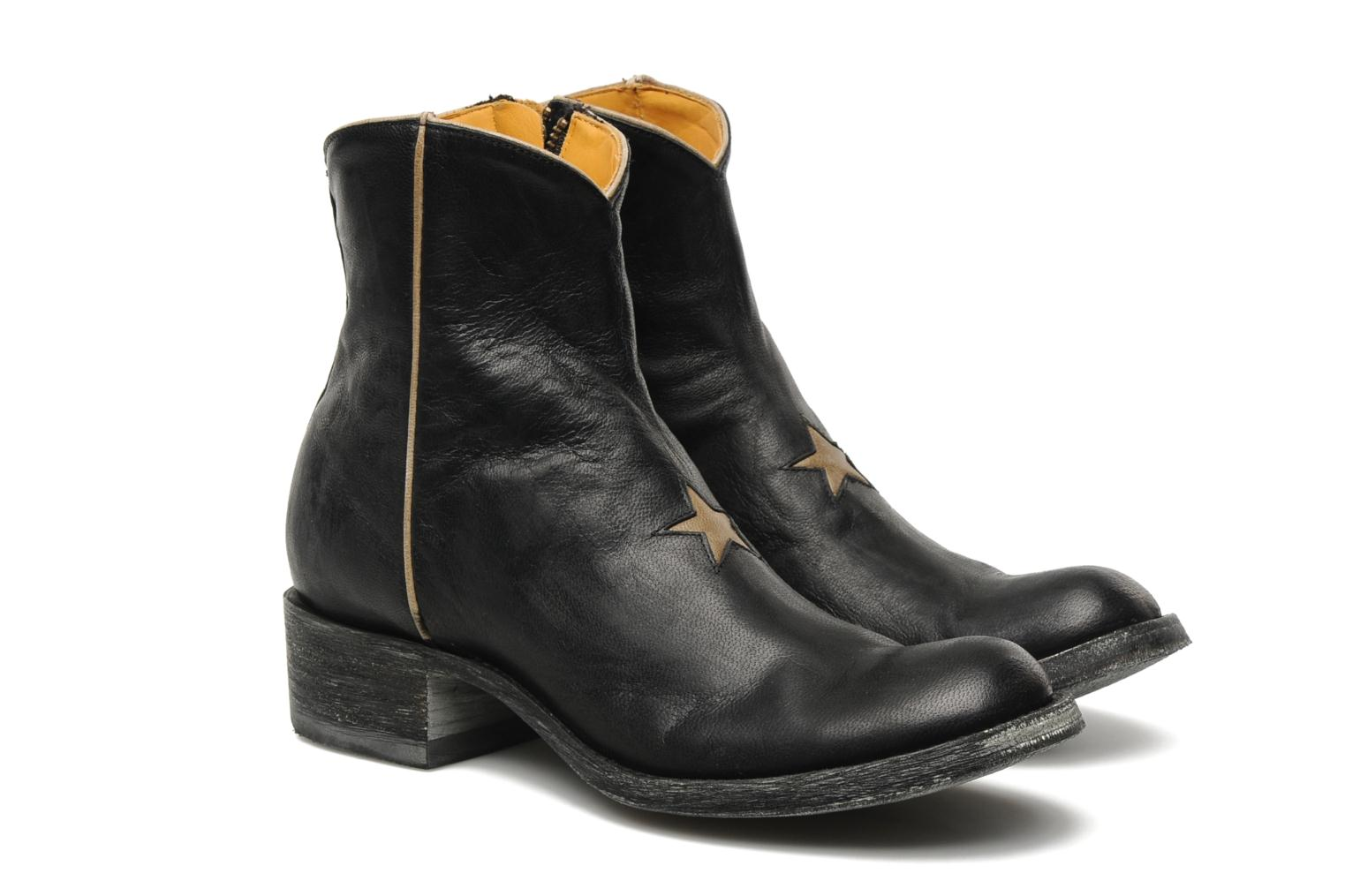 Bottines et boots Mexicana Star Noir vue 3/4