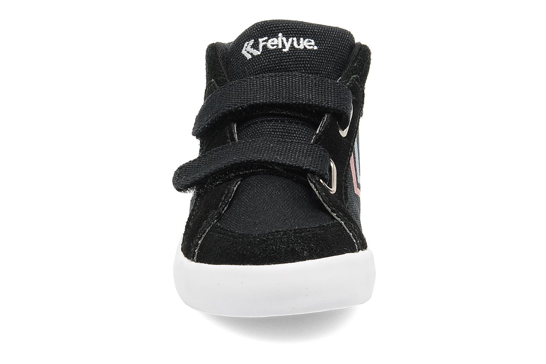 Sneaker Feiyue Delta Mid Kid Scratch Classic schwarz schuhe getragen