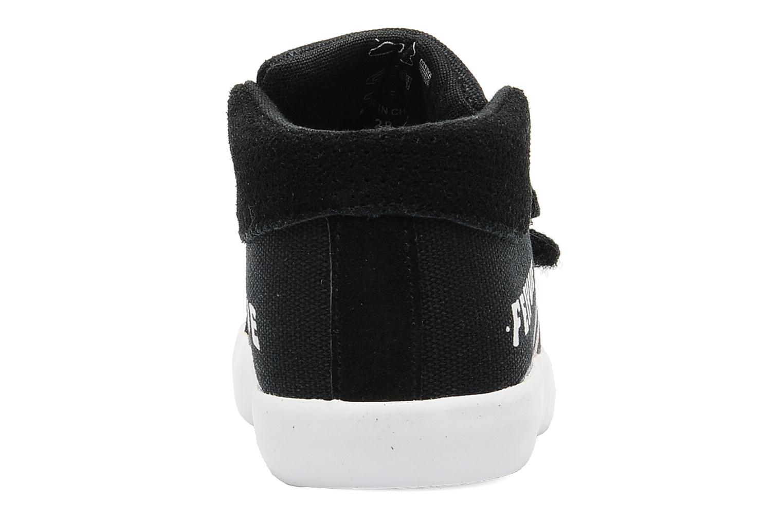 Sneaker Feiyue Delta Mid Kid Scratch Classic schwarz ansicht von rechts