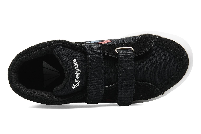 Sneaker Feiyue Delta Mid Kid Scratch Classic schwarz ansicht von links