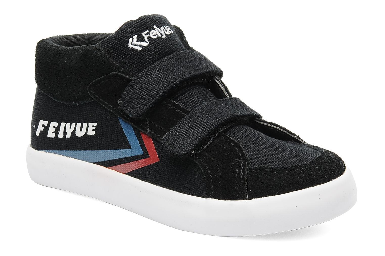 Sneakers Feiyue Delta Mid Kid Scratch Classic Zwart detail