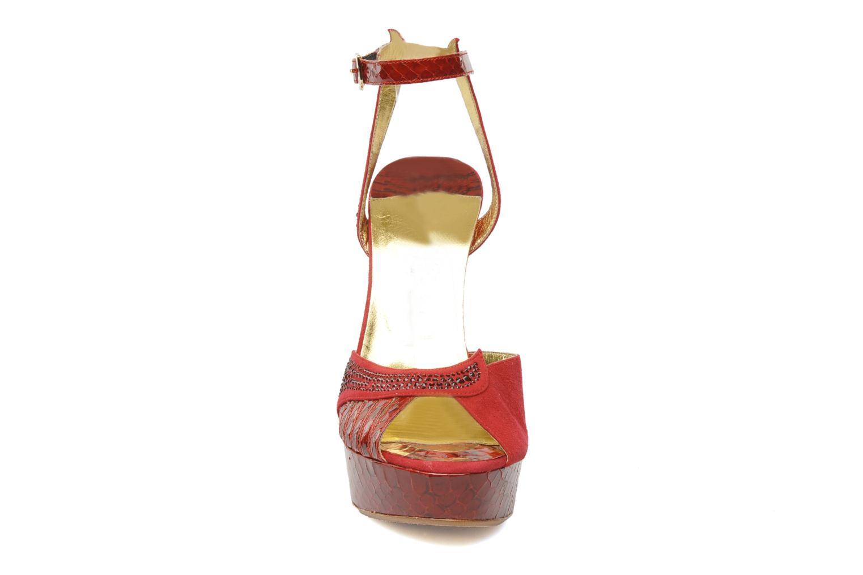 Sandales et nu-pieds Terry de Havilland Margaux 40 Rouge vue portées chaussures
