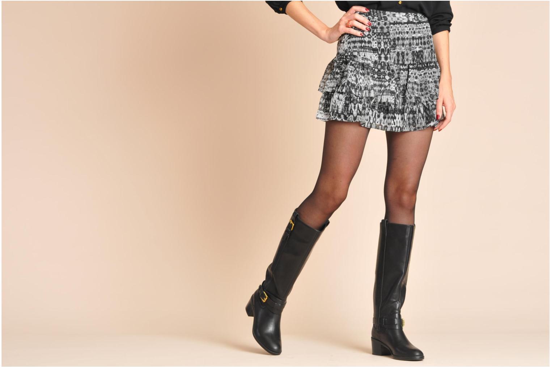 Stiefel Lauren by Ralph Lauren Charleen schwarz ansicht von unten / tasche getragen