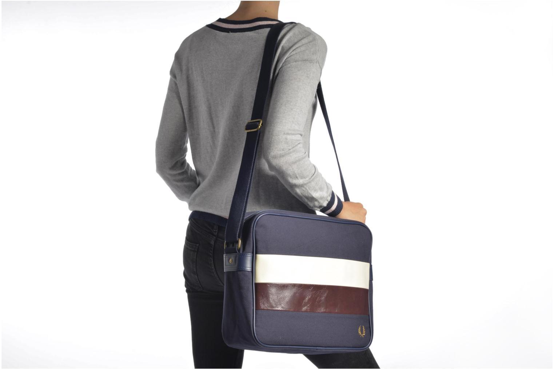 Canvas shoulder bag Navy écru