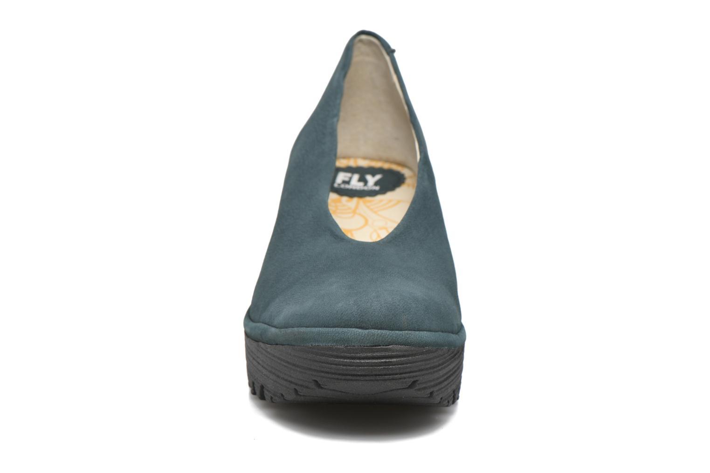 Escarpins Fly London Yaz Bleu vue portées chaussures