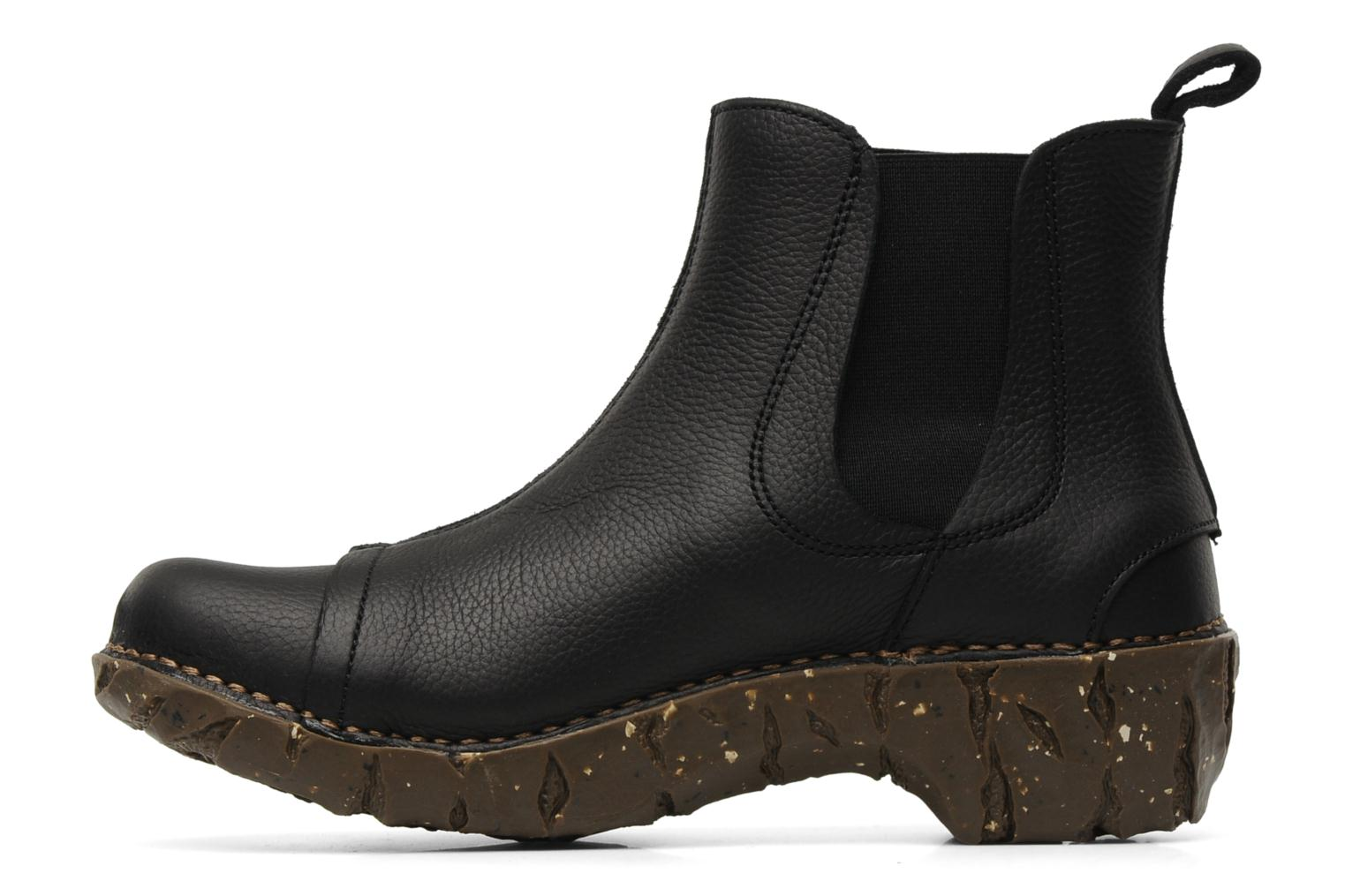 Ankle boots El Naturalista Iggdrasil N158 Black front view