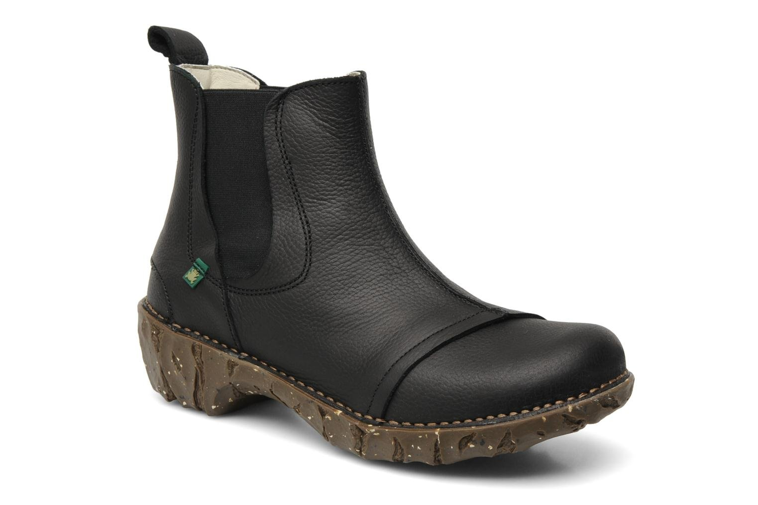 Ankle boots El Naturalista Iggdrasil N158 Black detailed view/ Pair view