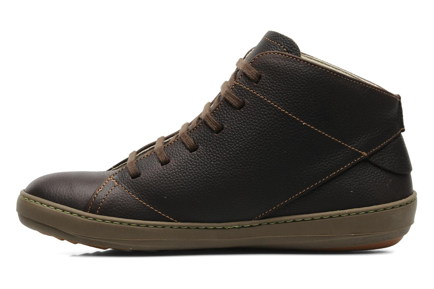 Lace-up shoes El Naturalista Meteo N212 Brown front view