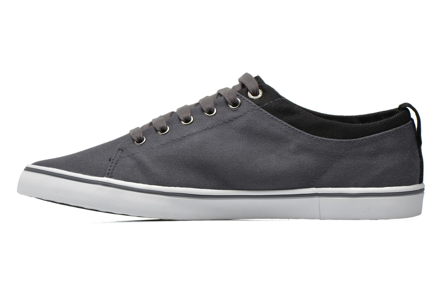 Baskets Fred Perry Hallam Twill Gris vue face