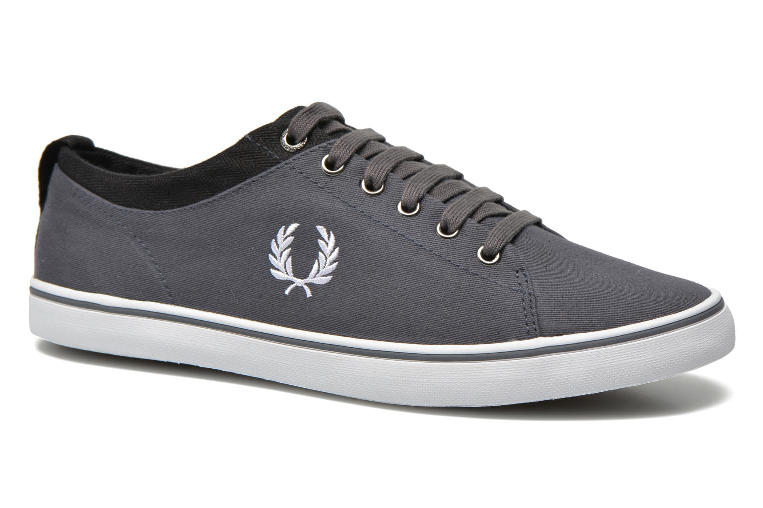 Baskets Fred Perry Hallam Twill Gris vue détail/paire