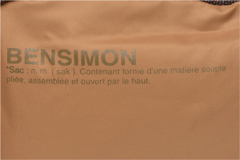 Handtaschen Bensimon Small Besace beige ansicht von links