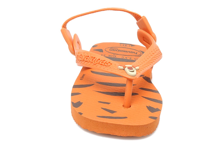 Tongs Havaianas Baby Disney Classic Orange vue portées chaussures