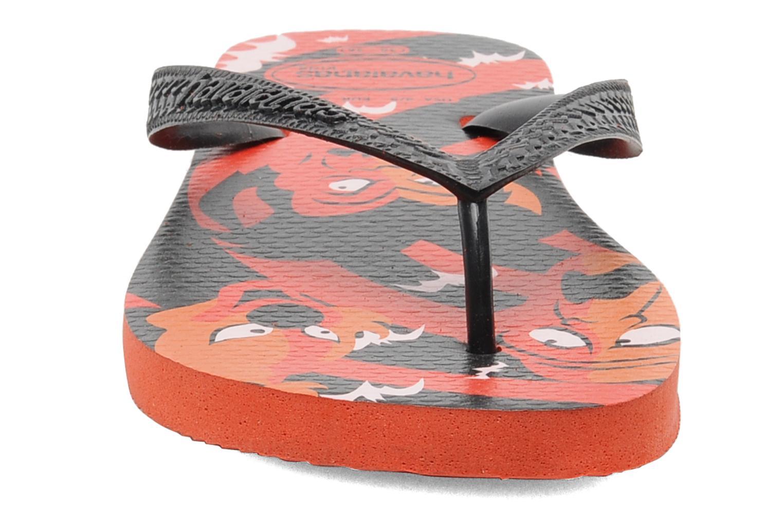 Tongs Havaianas Kids Scoobydoo Orange vue portées chaussures