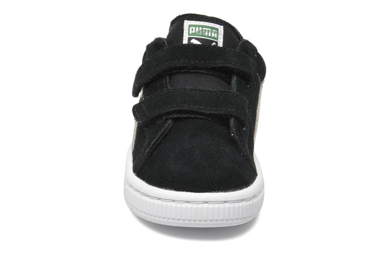 Baskets Puma Suede 2 Straps Kids. Noir vue portées chaussures