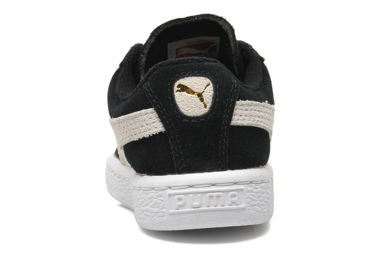 Baskets Puma Suede 2 Straps Kids. Noir vue droite
