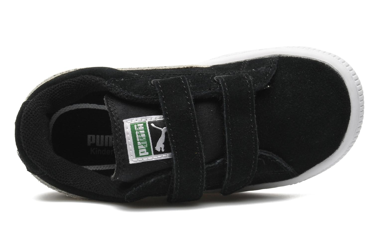 Trainers Puma Suede 2 Straps Kids. Black view from the left