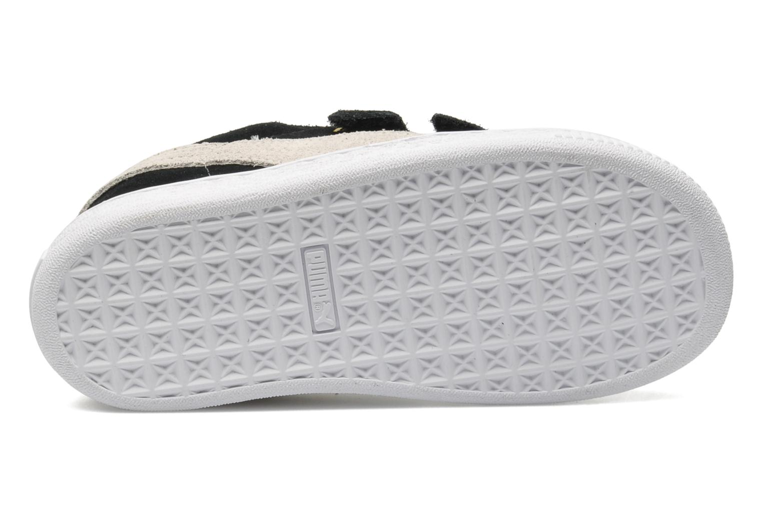 Trainers Puma Suede 2 Straps Kids. Black view from above