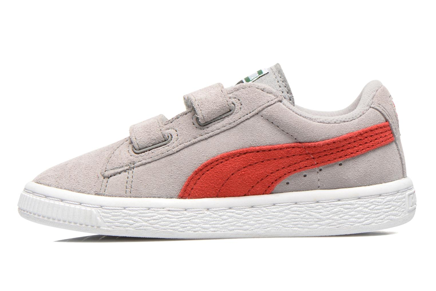 RED-WH Puma Suede 2 Straps Kids. (Rouge)