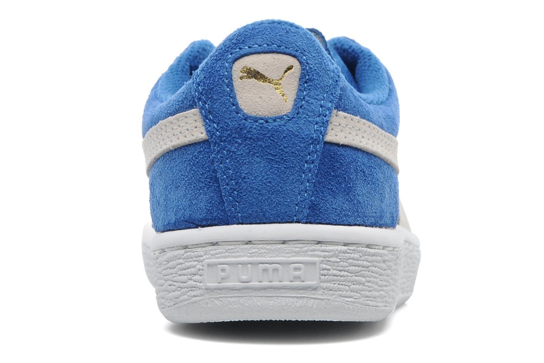 Baskets Puma Suede Jr. Bleu vue droite
