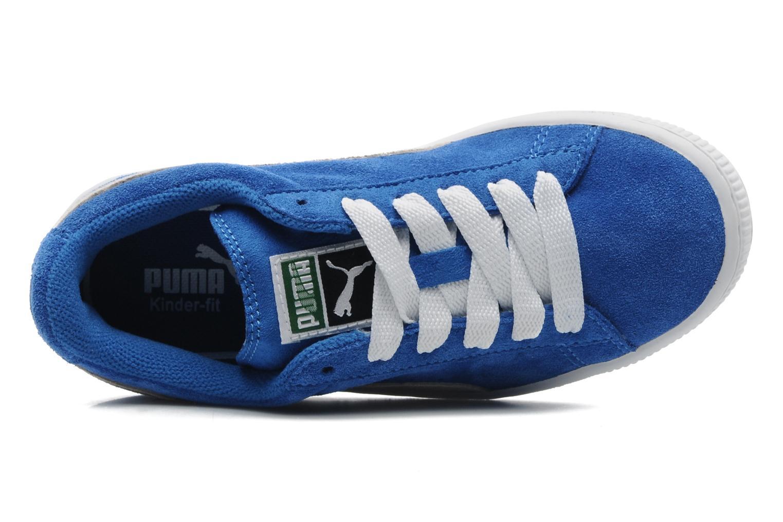 Suede Jr. Blue-Wh