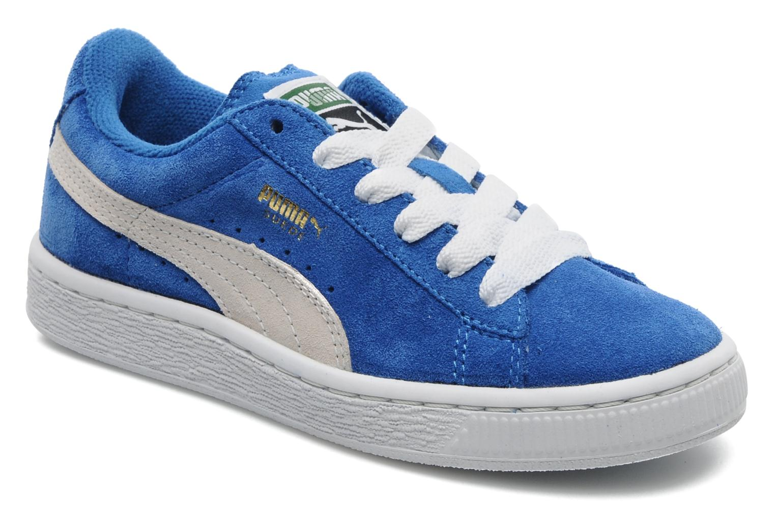 Suede Jr. Blue-Wh