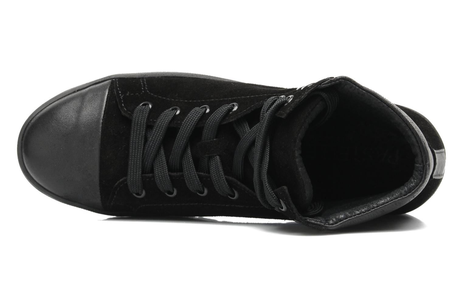 Trainers Pastelle Paty Black view from the left