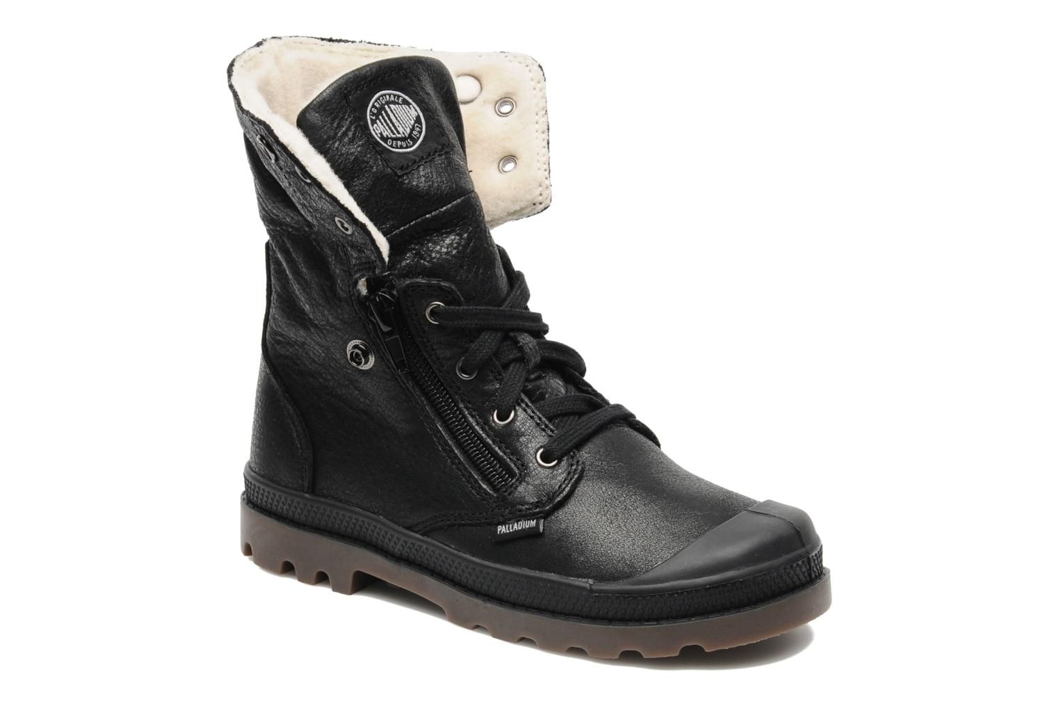 Bottines et boots Palladium Baggy Leather K Noir vue 3/4