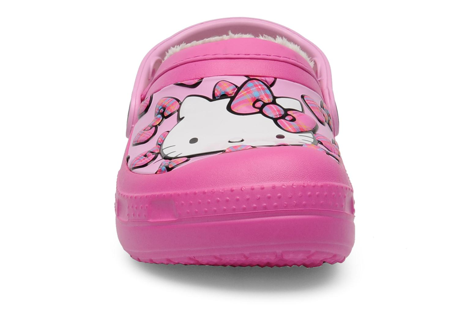 Sandals Crocs Creative Crocs Hello Kitty Bow Lined Clog Pink model view