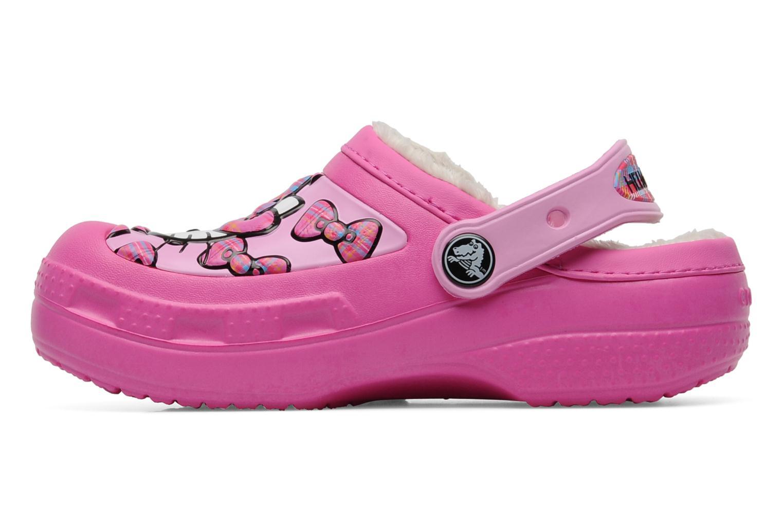 Sandalias Crocs Creative Crocs Hello Kitty Bow Lined Clog Rosa vista de frente