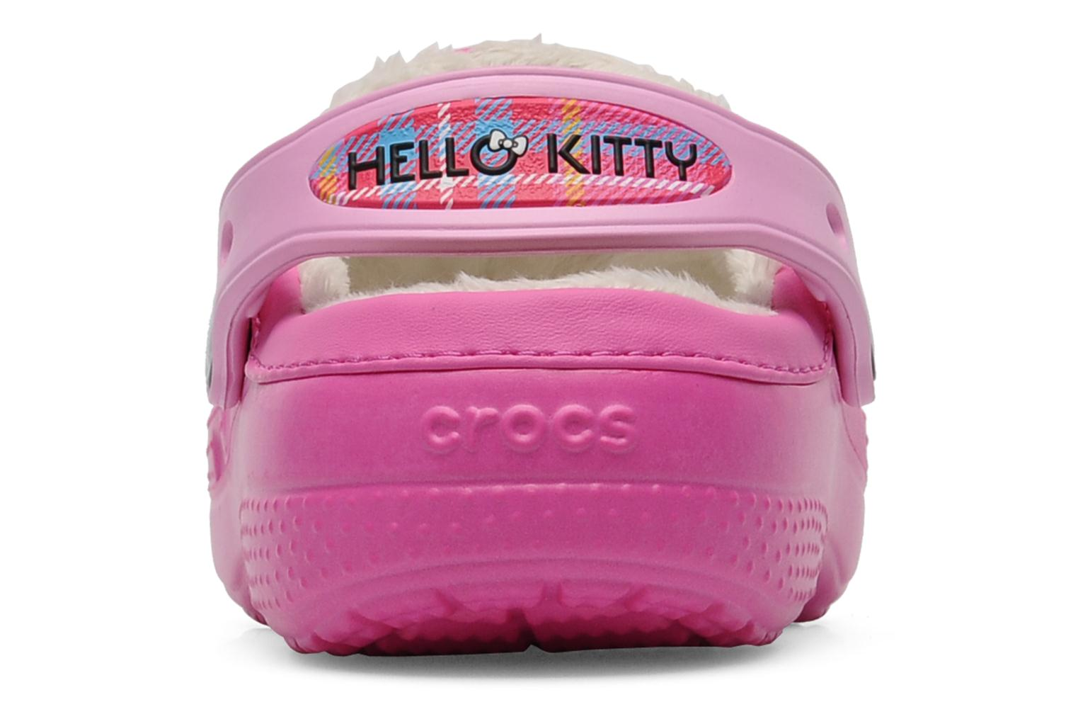 Sandals Crocs Creative Crocs Hello Kitty Bow Lined Clog Pink view from the right